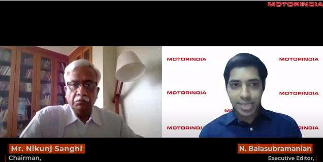 Mr. Nikunj Sanghi, ASDC Chairman in conversation with Motor India