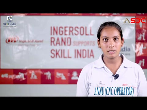 Annu, ASDC certified (CNC Operator) talking about her learnings from the opportunities she secured.