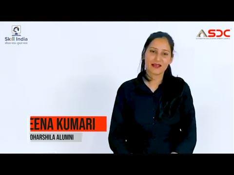 Meena, Sales Consultant- Autoworld Mahindra & ASDC certified Aadharshila alumni shares her journey.