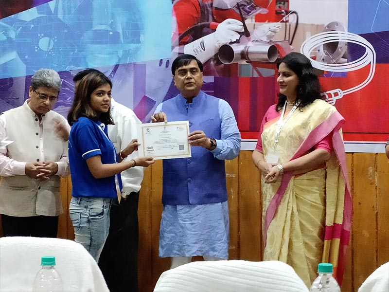 Students of ASDC, Ms. Rekha Kumari Won the 1st Prize in MIG Welding and Ms. Kabita for securing a place in the top 10 welders at the Welding competition, Bhubaneshwar where 151 welders participated.