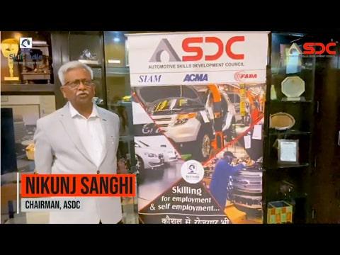 Mr. Nikunj Sanghi, Chairman- ASDC, at Aadharshila Camp, Alwar
