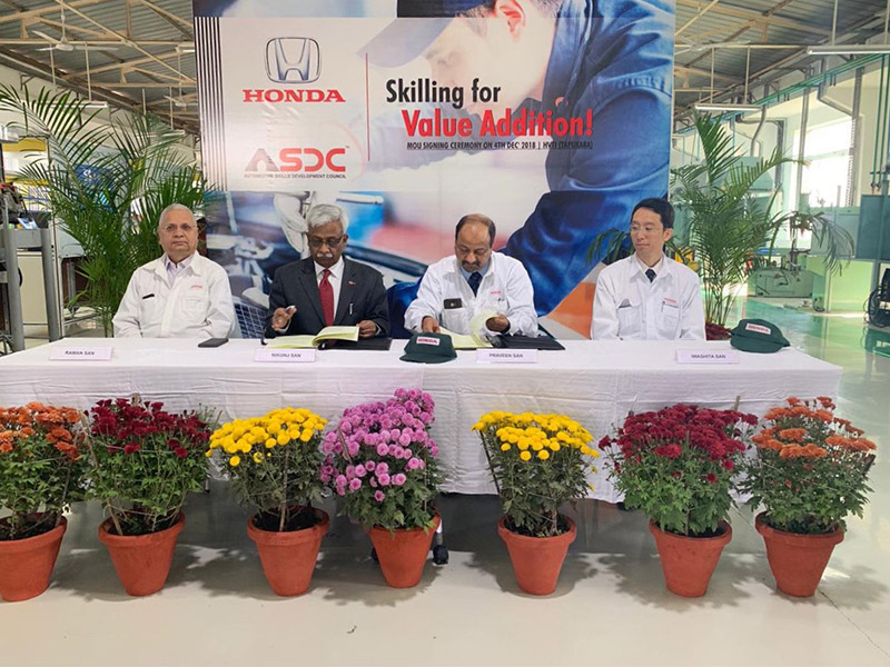 ASDC - Honda skilling for value addition